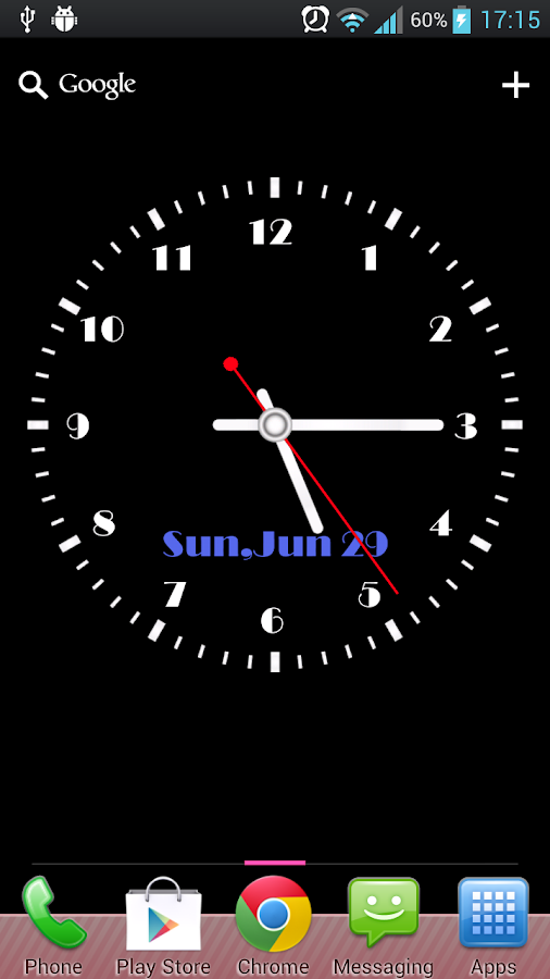 Super Clock Live Wallpaper- screenshot