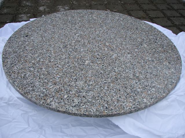 granit gartentischplatte tischplatte granitplatte rund 120cm steinplatte marmor ebay. Black Bedroom Furniture Sets. Home Design Ideas