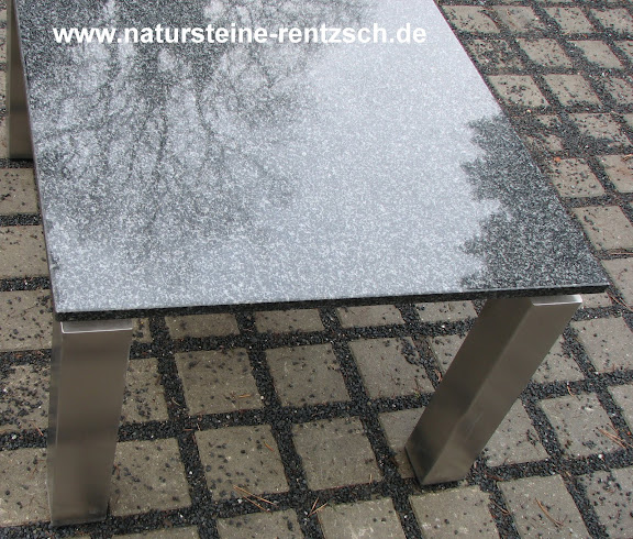tisch couchtisch edelstahltisch granit marmor wohnzimmer esstisch schwarz neu ebay. Black Bedroom Furniture Sets. Home Design Ideas