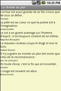 La citation du jour - screenshot thumbnail