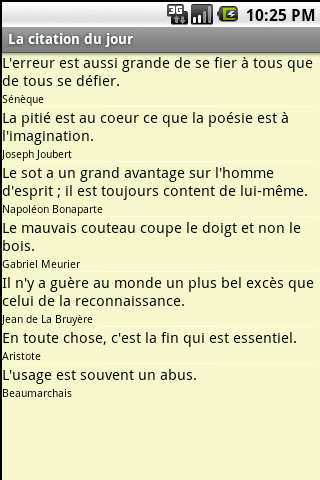 La citation du jour - screenshot