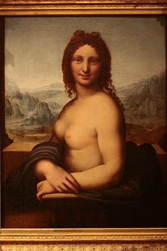 裸体版《蒙娜丽莎》