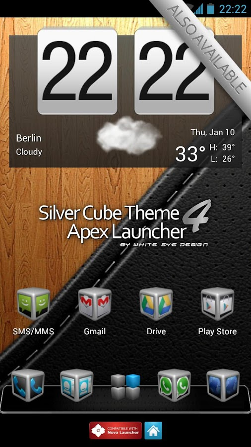 Cube Theme 4 Apex Launcher - screenshot