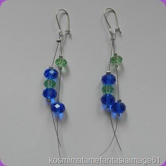 Κοσμήματα με φαντασία  Σκουλαρίκια κρεμαστά με swarovski μπλε   πράσινα! 2a766161478