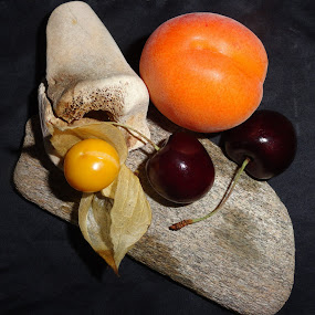 Cape Cherrycot by Marion Metz - Food & Drink Fruits & Vegetables ( fruit, nature, bone, cape gooseberry, apricot, cherries, new zealand )