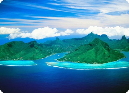 Cook's Bay and Opunohu Bay, Moorea Island, French Polynesia
