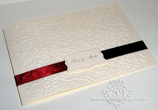 Cream And Bordeaux Elegant Wedding Invitations Invitatii Nunta Crem