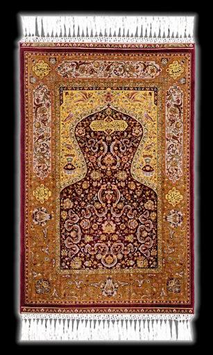 Genuine Hereke Silken Carpet Topkapi