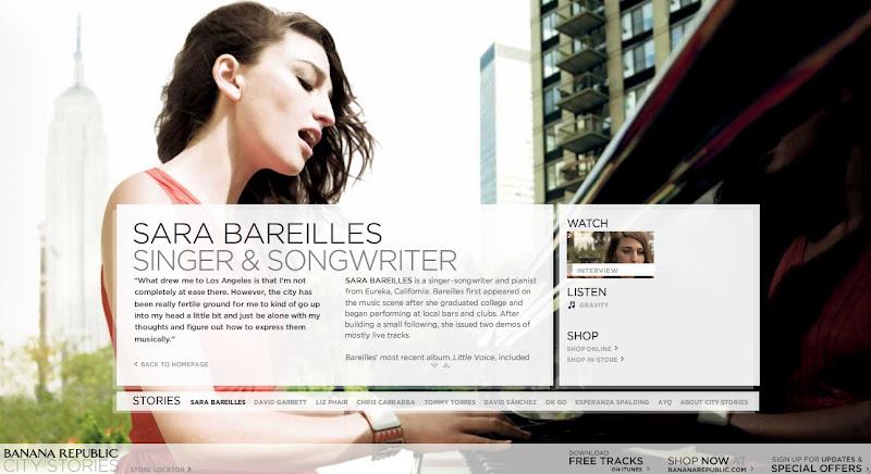 smart creative advertising banana republic s city stories campaign leerone 39 s weblog. Black Bedroom Furniture Sets. Home Design Ideas