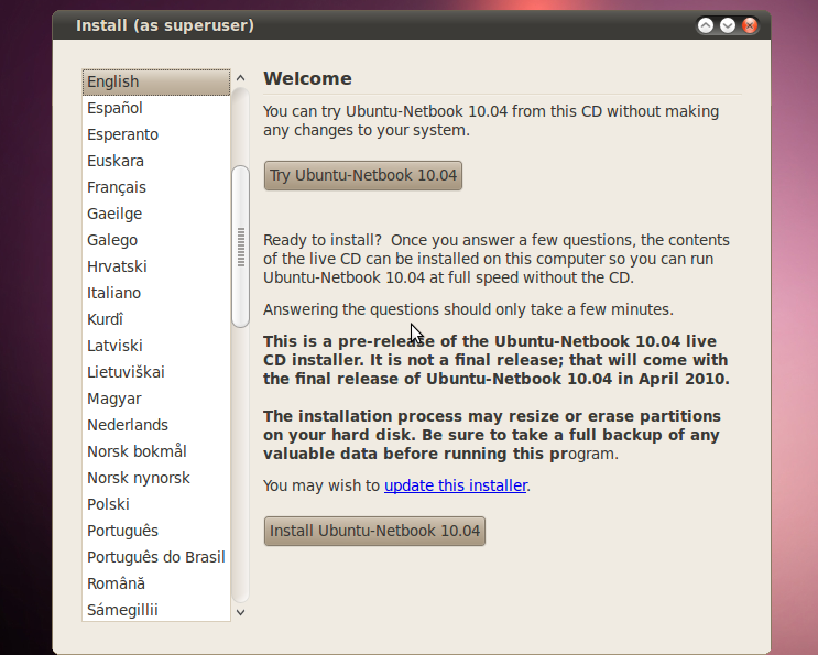 ubuntu 10.04 live cd