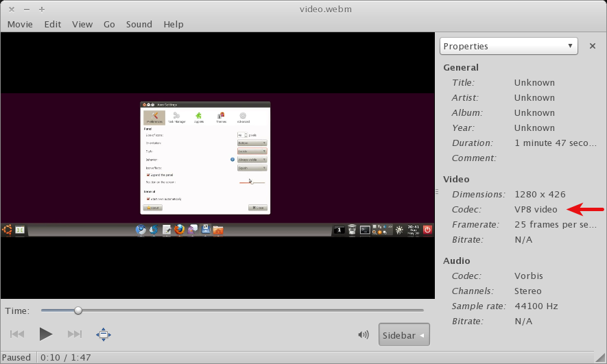 How To Save WebM Videos From YouTube And Play Them In Ubuntu ~ Web