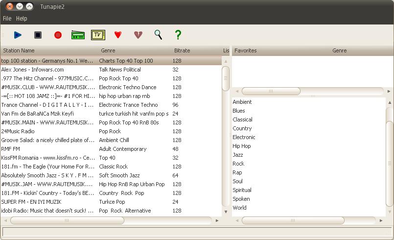Listen To Internet Radio In Ubuntu Using Tunapie (Shoutcast, Icecast