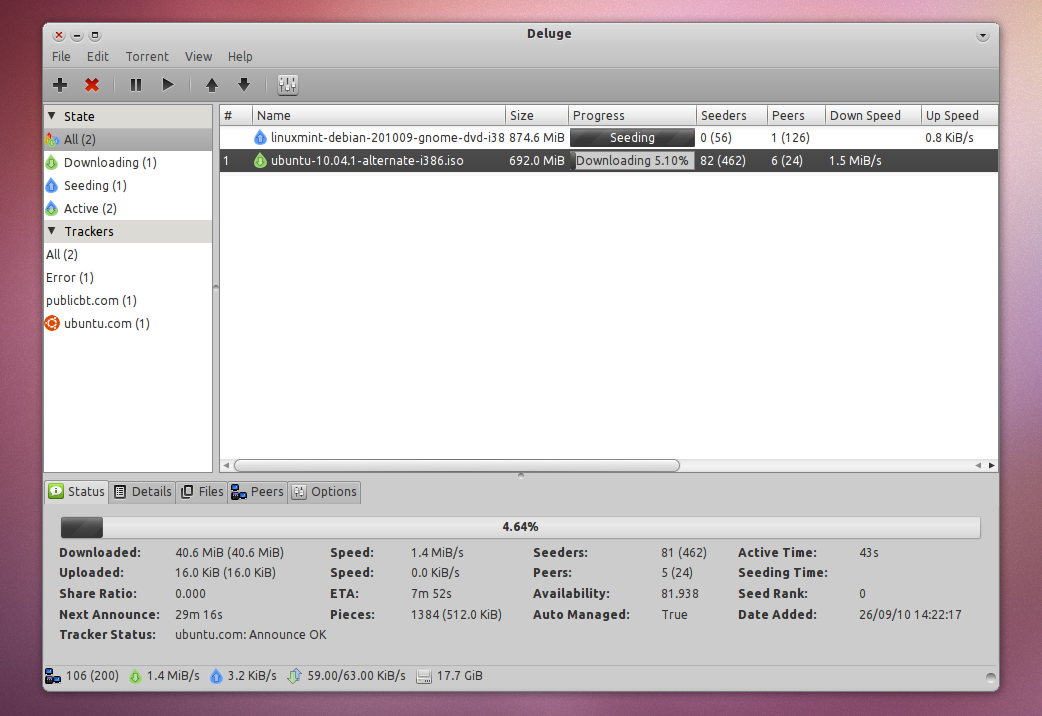 How To Install Deluge 1 3 0 In Ubuntu 10 04 Lucid Lynx [Repository
