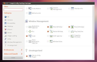 CompizConfig Unity PLugin Ubuntu Natty