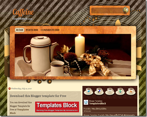Caffeine Blogger Template