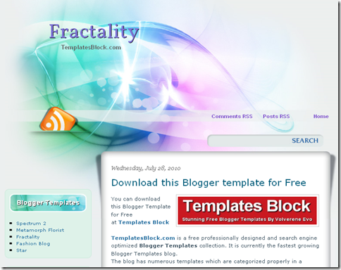Fractality Blogger Template