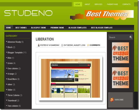 Studeno Blogger Template