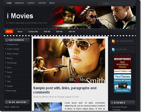 I Movies Blogger Template