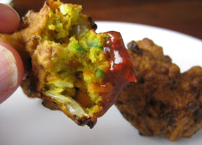 Vegetable Pakora with Tamarind Dipping Sauce