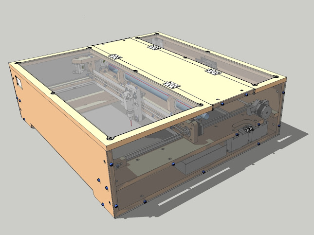 BlackTooth Laser Cutter/Engraver - SketchUp Showcase