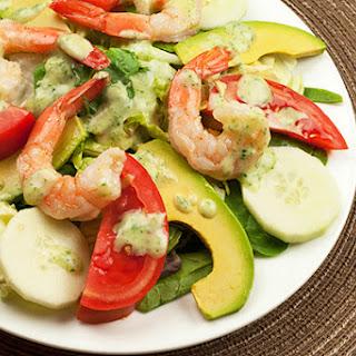 Shrimp and Avocado Salad with Creamy Tarragon Dressing.