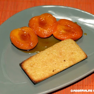 "Honey Apricots with  ""Financier"" Cookies"