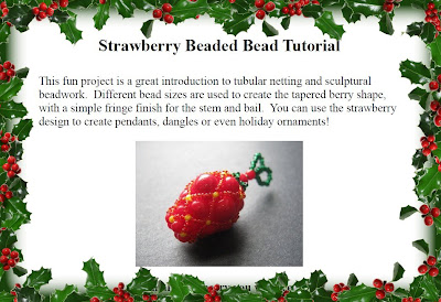 Strawberry Beaded Bead Tutorial Giveaway