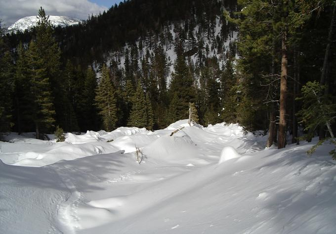 avalanche path downward