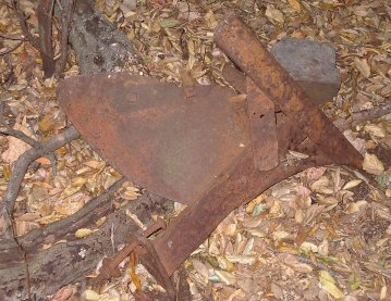 rusted plow blade
