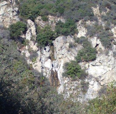 falls, cliffs, and cave