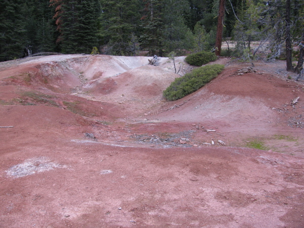 Red dirt shaped by the thermal forces below.