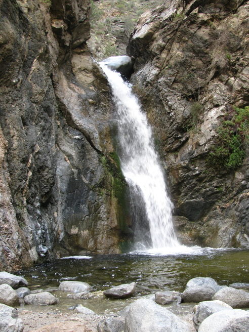 The falls at the end of Eaton Canyon trail.