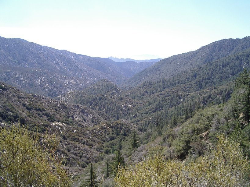 Overlooking Devils Canyon from above as the trail starts out.