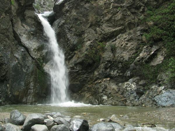 Waterfall in the rain.