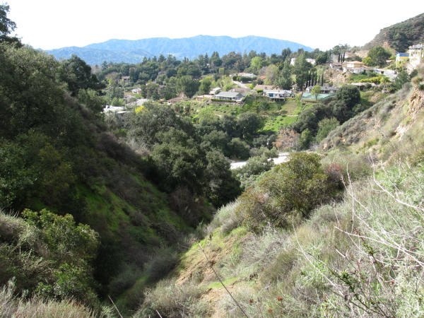 The neighborhood from the first canyon along.