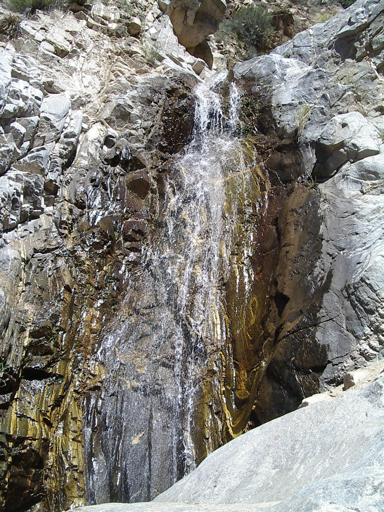 The upper half of the waterfall.  The bit that can't be easily climbed.