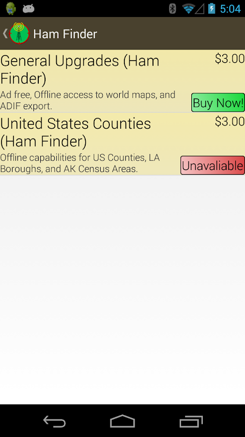 Ham Finder- screenshot
