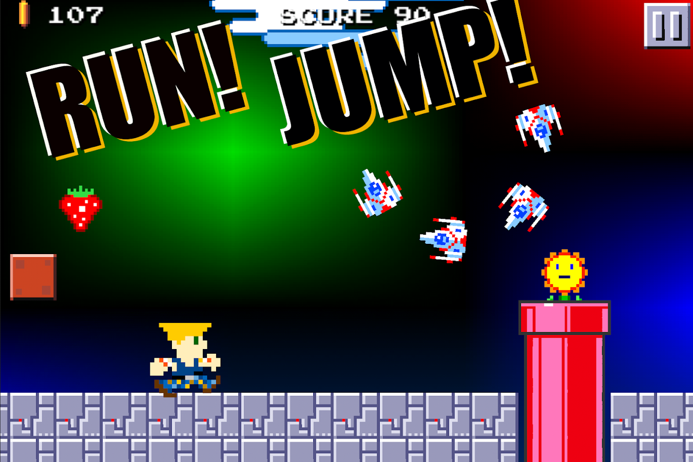 Super Mega Runners 8-Bit jump- screenshot