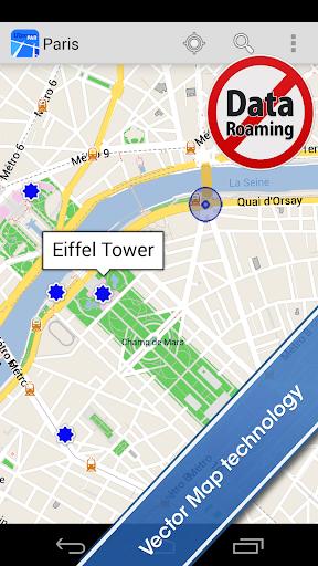Paris Offline City Map