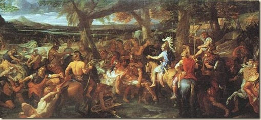 Charles Le Brun (1619-1690)-'Alexander and Porus (Puru) during the battle of Hydaspes (326 BC)'-1673