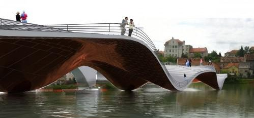The unusual bridge in Maribor