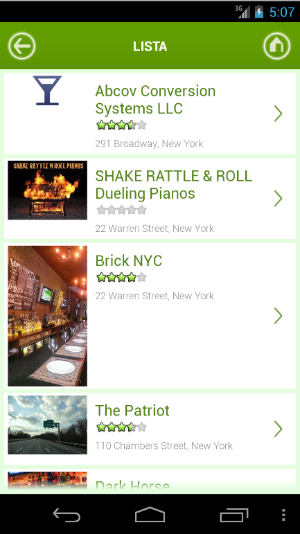 New York & Restaurants - screenshot