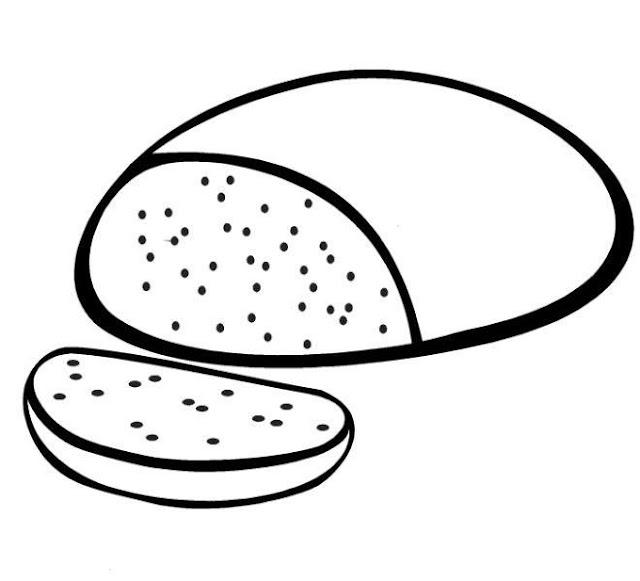 Dibujos De Pan Y Pan De Molde Para Colorear