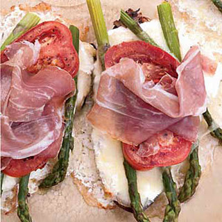 Asparagus-Cheese Tartines