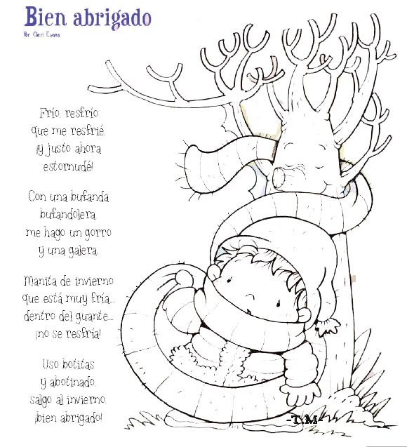 Poemas De Invierno Con Dibujos Para Pintar