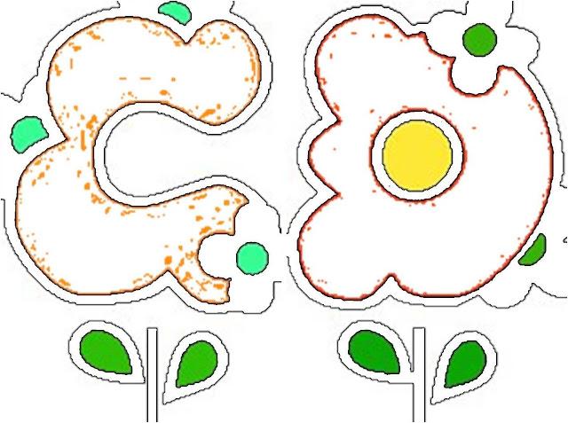 Abecedario De Primavera Letras Con Flores