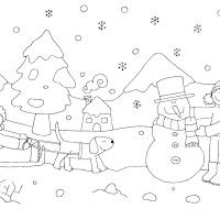 Colorear Dibujos Del Invierno