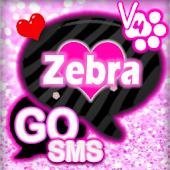 GO SMS PRO Zebra Love Theme 4