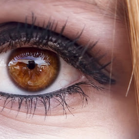My girl... by Brandon Chapman - People Body Parts ( blonde, girl, eye lashes, beautiful, daughter, hair, eye )