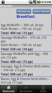 Under 600 Calories : Fast Food- screenshot thumbnail